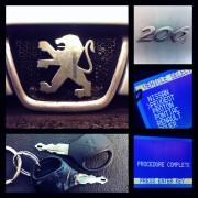 Peugeot 206 rezervni ključ
